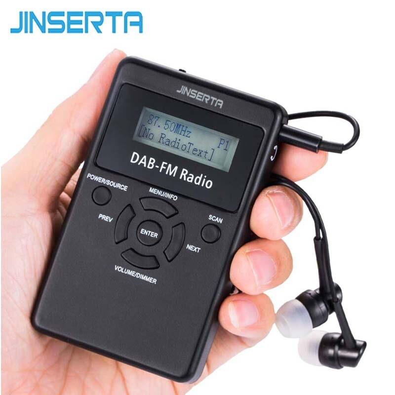Jinserta Tragbare Tupfen & Fm Stereo Radio Digital Audio Broadcast Handheld Pocket Rds Empfänger Mit Kopfhörer & Akku In Den Spezifikationen VervollstäNdigen Tragbares Audio & Video Unterhaltungselektronik