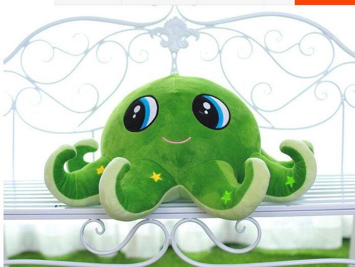 Grand beau jouet de poulpe créatif mignon peluche vert pieuvre poupée cadeau d'anniversaire environ 60 cm