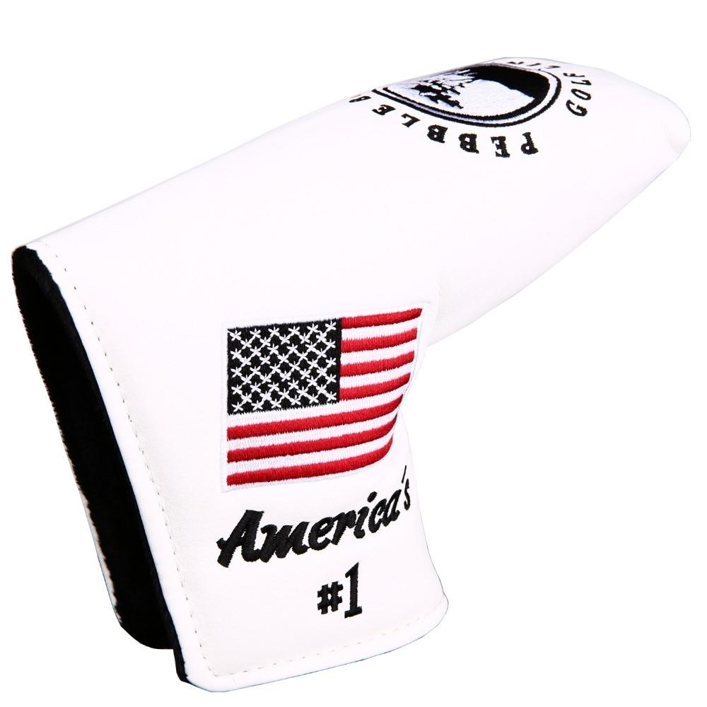 High Quality 1Pc America Flag Pebble Beach Golf Putter