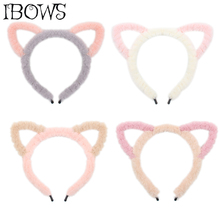 Coral Fleece Makeup Headband For Women Girls Wash Face Lady Bath Mask Cosmetic Hairband  Cute Ear Dance Party Hair Accessories недорого
