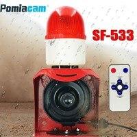 12V 24V 220V Industrial Horn Siren Emergency Sound and Light Alarm Red LED Flashing Strobe Warning Light with Remote Control