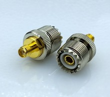 цена на SL16 M type UHF type Female to SMA Female connector RF coaxial Connector M-SMA RF Connector 1pcs