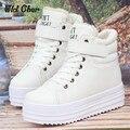 2017 de Invierno, Además de Terciopelo Acolchado Zapatos Mujer Botas de Nieve Femenina de Plataforma Zapatos Casuales de Alta Superior Mulheres Sapatos De Inverno
