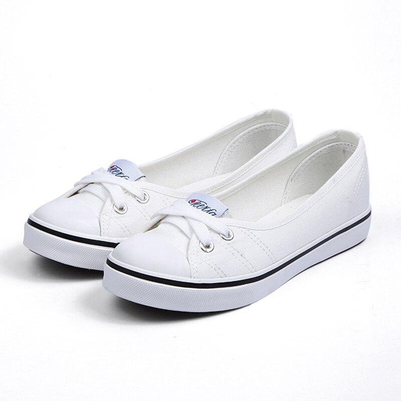Women shoes canvas shoes comfortable shoes slip-on Korean tide students set foot flat sh ...