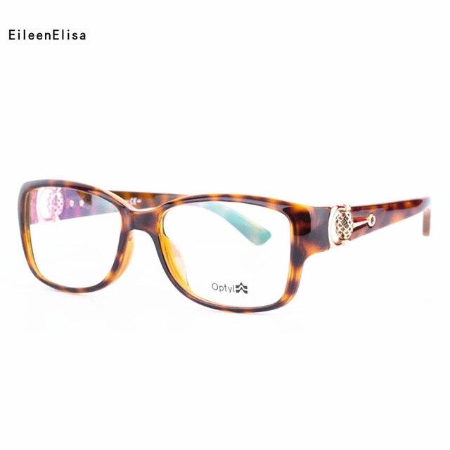 57c867e371fab 2018 EE Fashion Square Eyeglasses Frames Vintage Optical Myopia Women and Men  Prescription Glasses Frame