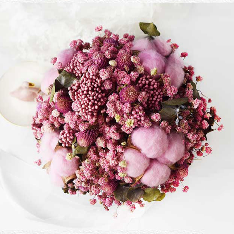 Bridal Bouquet Pink Babysbreath Wedding Bouquet Wedding flower de mariage Dried flower