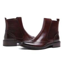 Grande tamanho EUR45 Zipper Preto/marrom mens tan ankle boots genuine vestido de couro outono motocicleta botas mens sapatos