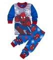 2 - 7 год горячая распродажа паук Pijamas дети устанавливает с длинным рукавом мультфильм человек паук Infantil мальчик пижамы комплект ребенка спать носить одежду