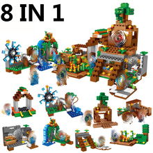My World Minecrafted Hanging Garden Building Blocks 8 in 1 DIY Bricks City Educational Enlighten Children Toys 900pcs my world molcard village dragon figures building blocks compatible legoed minecrafted city bricks enlighten children toys