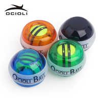 OCIOLI Power ball Explosive Training Gyroscrope Force Wrist Arm Muscle Exerciser Ball Hand Spinner Carpal Expander gym Fitness