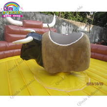 4m Diameter Mechanical Rodeo Bull Riding Machine Inflatable Bull Ride Mat Inflatable Mechanical Rodeo Bull Matress