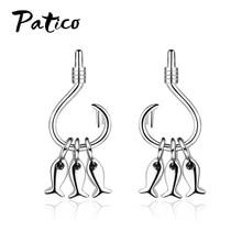 New Fashion Korean 925 Sterling Silver Lovely Fish Shape Metal Stud Earrings Girl Birthday Gift Easy Wear Ear Jewelry