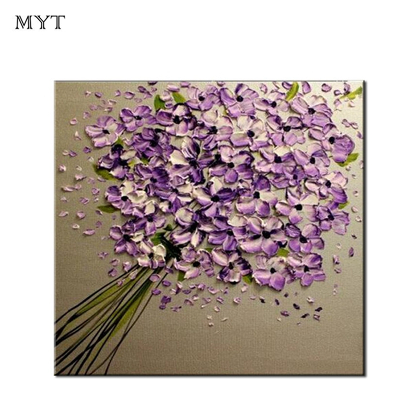Home Decorative Oil Painting Knife Flower Picture Wall Art Canvas Painting Picture Decoration Design Wall Art Living Room Decor