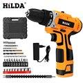 Небольшая электродрель HILDA 16,8 V электрическая дрель с Перезаряжаемые литиевая батарея электрическая отвертка на батарейках аккумуляторная...