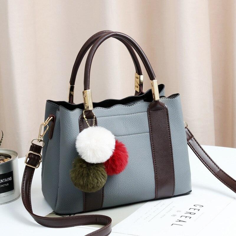 Mode haute qualité PU cuir femme Top-poignée sacs petites femmes Crossbody fourre-tout cheveux balle sac à bandoulière mignon Messenger sacs à main