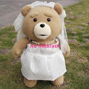 Image 4 - Плюшевый мишка из фильма «она» 45 см, плюшевые игрушки в костюме для мальчиков, мягкие куклы с плюшевыми животными Теда, подарок для невесты хорошего качества в платье
