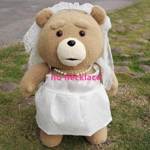 Image 4 - 45cm 9 סגנונות סרט היא טדי דוב בפלאש צעצועי ב חליפת ילד טד רך חיות פרווה בובות מתנת הווה טוב Qulity כלה שמלה