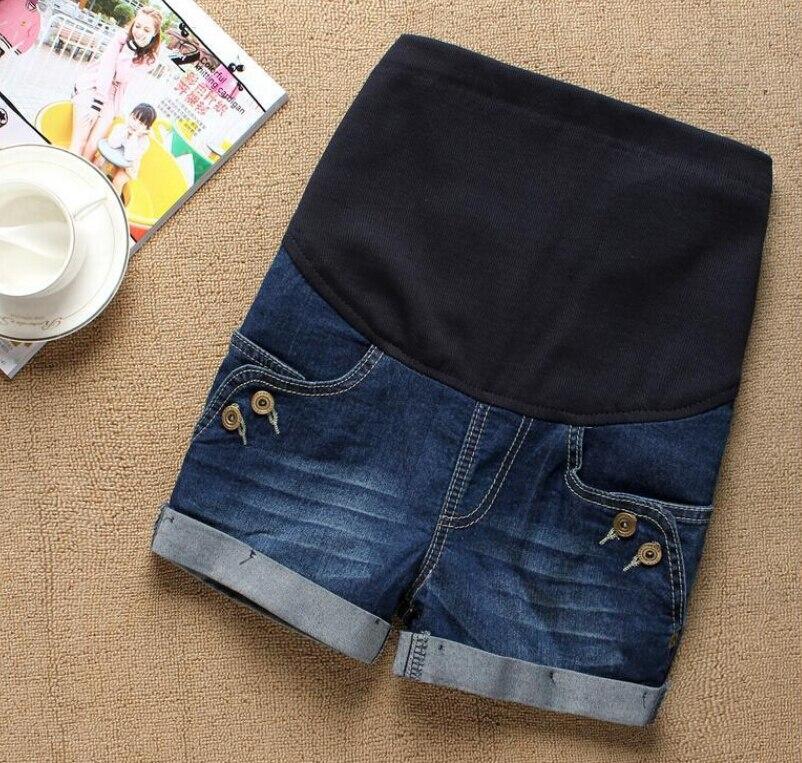 Летние Короткие джинсы для беременных; повседневные шорты для беременных; одежда с регулируемой талией; простые тонкие женские брюки для ухода за животом