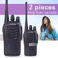 2 pcs baofeng bf-888s walkie talkie 5 w uhf 400-470 mhz handheld portátil cb ham radio walkie talkie conjunto de equipamentos de comunicação