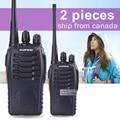 2 unids baofeng bf-888s walkie talkie 5 w uhf 400-470 mhz portátil de mano cb ham radio walkie talkie conjunto de equipos de comunicación