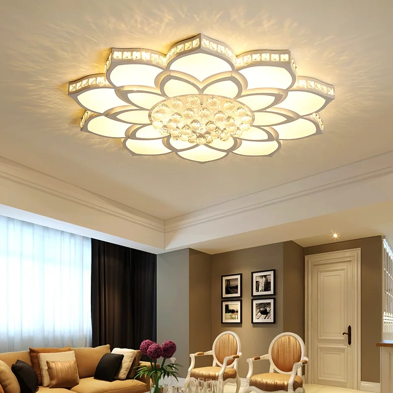 Crystal Modern led ceiling lights for living room bedroom Study Room fixtures Acrylic Stylish Led Ceiling Lamp Free Shipping