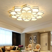 Luces de techo led modernas de cristal para sala de estar, dormitorio, sala de estudio, accesorios, lámpara de techo Led de acrílico con estilo, envío gratis