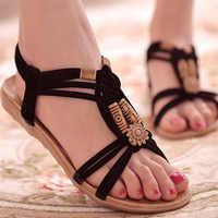 Sandalias de Mujer, Sandalias cómodas, chanclas de verano, moda 2020, Sandalias planas tipo gladiador de alta calidad, Sandalias para Mujer
