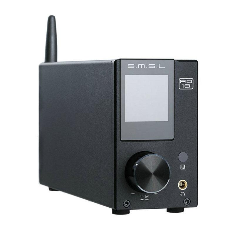 SMSL AD18 hi-fi audio amplificador estéreo con Bluetooth 4.2 compatible con apt-x, DSP USB digital amplificador de potencia completa 2.1 para el altavoz