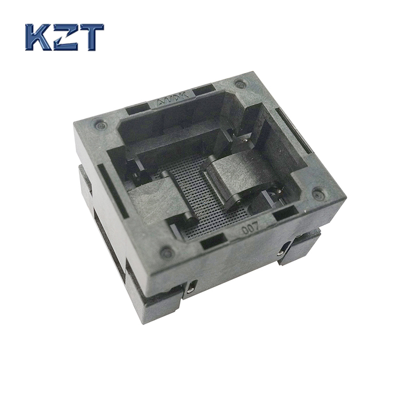 BGA100 OPEN TOP burn in socket pitch 0.65mm IC size 8*8mm BGA100(8*8)-0.65-TP01NT BGA100 VFBGA100 burn in programmer socket bga80 open top burn in socket pitch 0 8mm ic size 7 9mm bga80 7 9 0 8 tp01nt bga80 vfbga80 burn in programmer socket