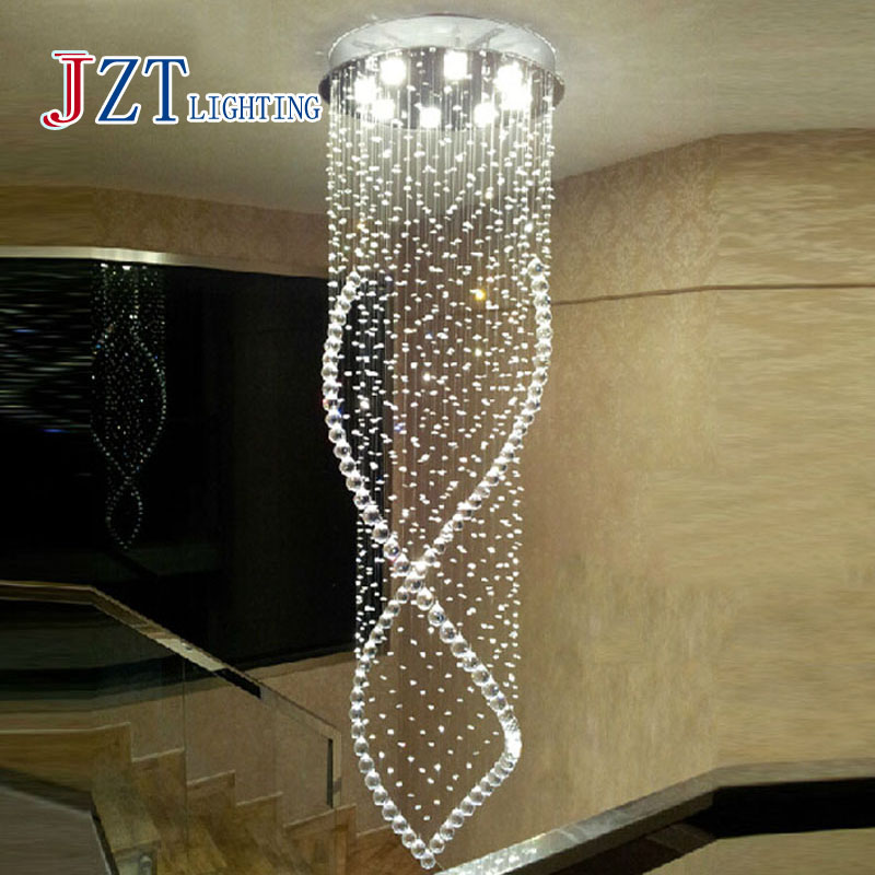 Best Price Modern Crystal Chandelier Light Fixture Duplex Stairs LED Crystal Lamp for Ceiling Villa Hall Chandelier Droplight|lamp for|light fixtures|for lamp - title=