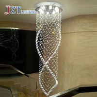 Z Best Price Modern Crystal Chandelier Light Fixture Duplex Stairs LED Crystal Lamp For Ceiling Villa