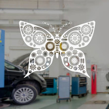 Mechanical Butterfly Steampunk Art Robotics Wall Stickers Vinyl Interior Decoration Window Decals Removable Mural Design A110