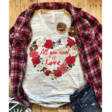 Women Tshirt All You Need Is Love Tops Graphic Tees Summer Plus Size Print Rose Girls Clothing Valentines Day