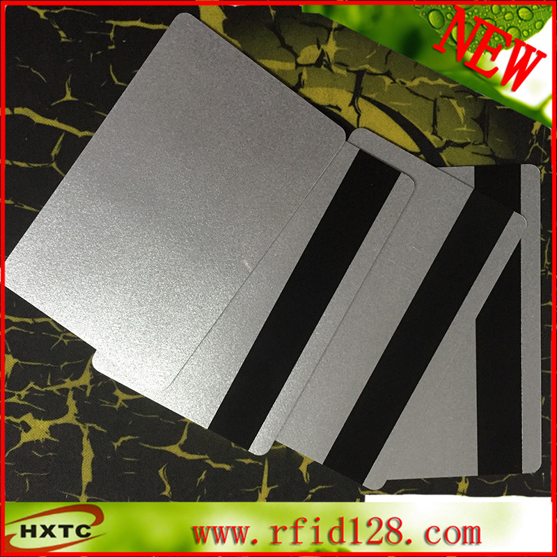 200PCS/Lot CR80 EMV Hi-CO MagStrip PVC Blank Cards Magnetic Card Silver smart Card ...