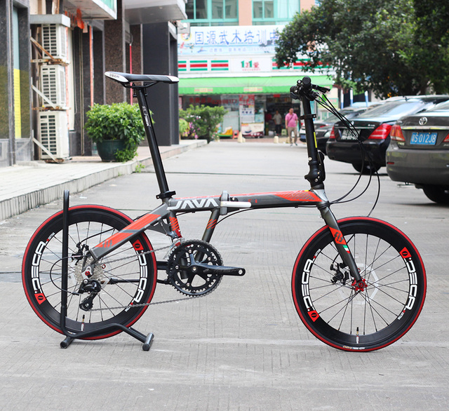 JAVA FIT Aluminium Adult Folding Bike 20″ 451 Wheel 18 Speed Disc Brake Foldable Uniex High Quality Urban Bicycle