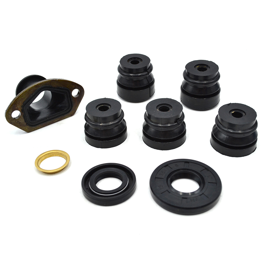 цена на Chinese Chainsaw Oil Seal Annular Rubber Damper Intake Manifold Kit For 45CC 52CC 58CC 4500 5200 5800 Spare Parts