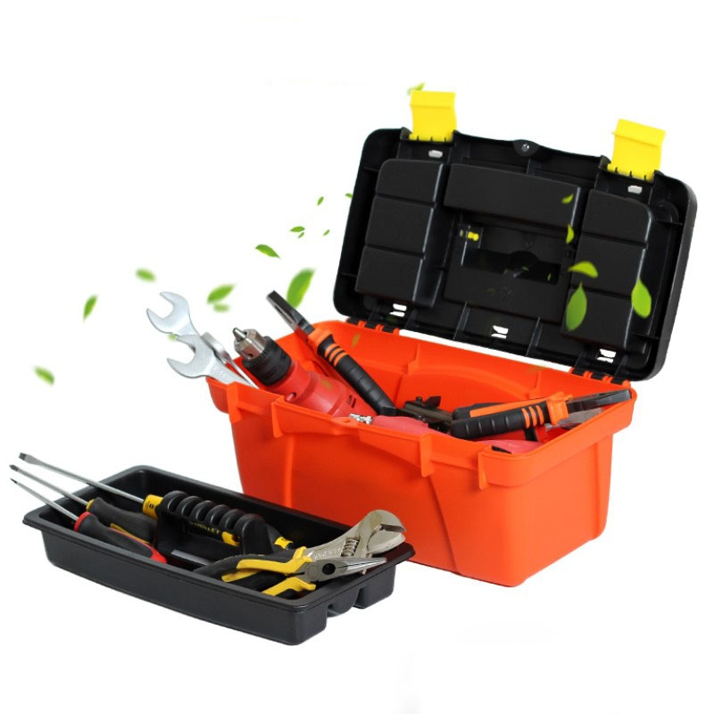 Multi-function Repair Toolbox Portable Plastic Large Car Storage Box Electrician Box Hardware Impact Drill Home Case