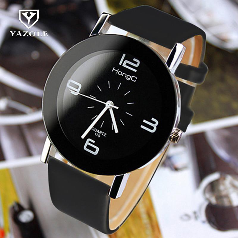 2017 YAZOLE Fashion Wristwatch Fashionable Unique Leather Watchband Watch Women Quartz Dress Watch