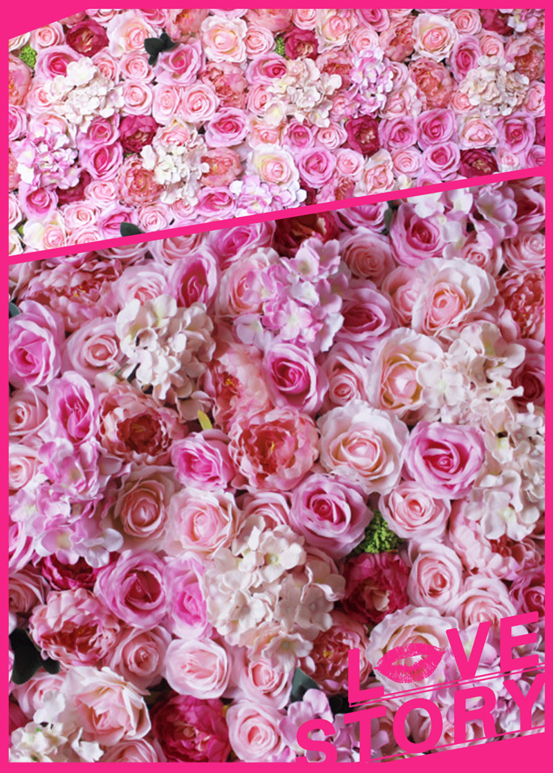 SPR artificial <font><b>flower</b></font> wall 10pcs/lot wedding stage backdrop decorative factory wholsale wedding arrangement party festival decor
