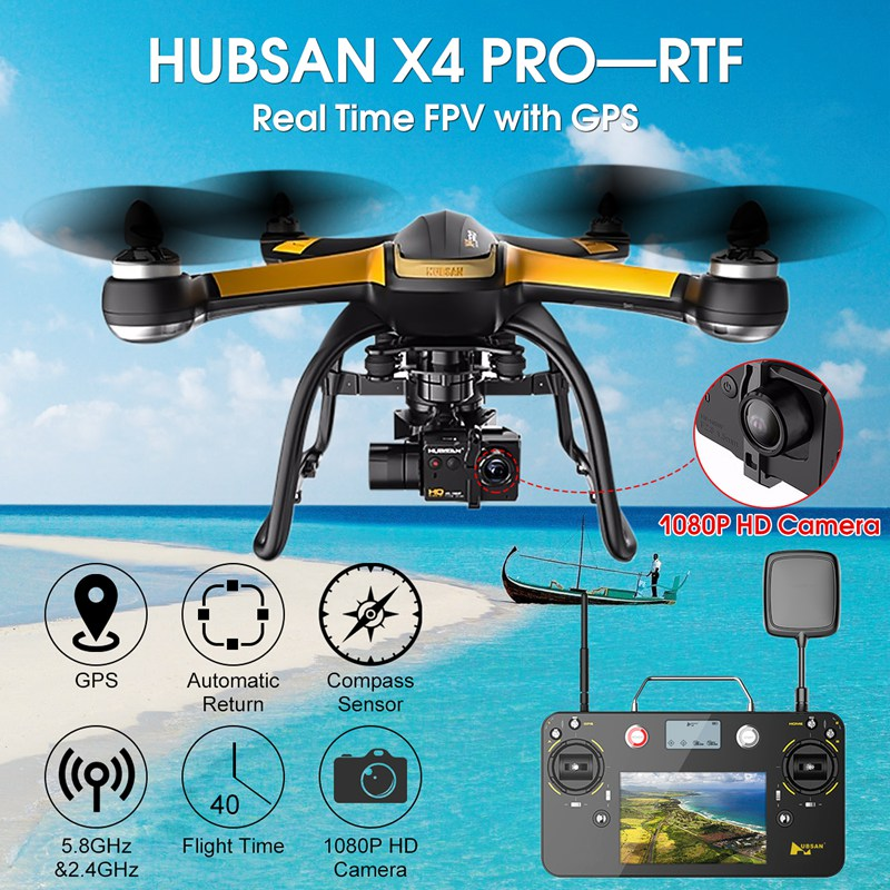 цены  Hubsan X4 Pro H109S Standard Edition 5.8G FPV With 1080P HD Camera 1 Axle Gimbal GPS RC Quadcopter RTF Black Mode 2
