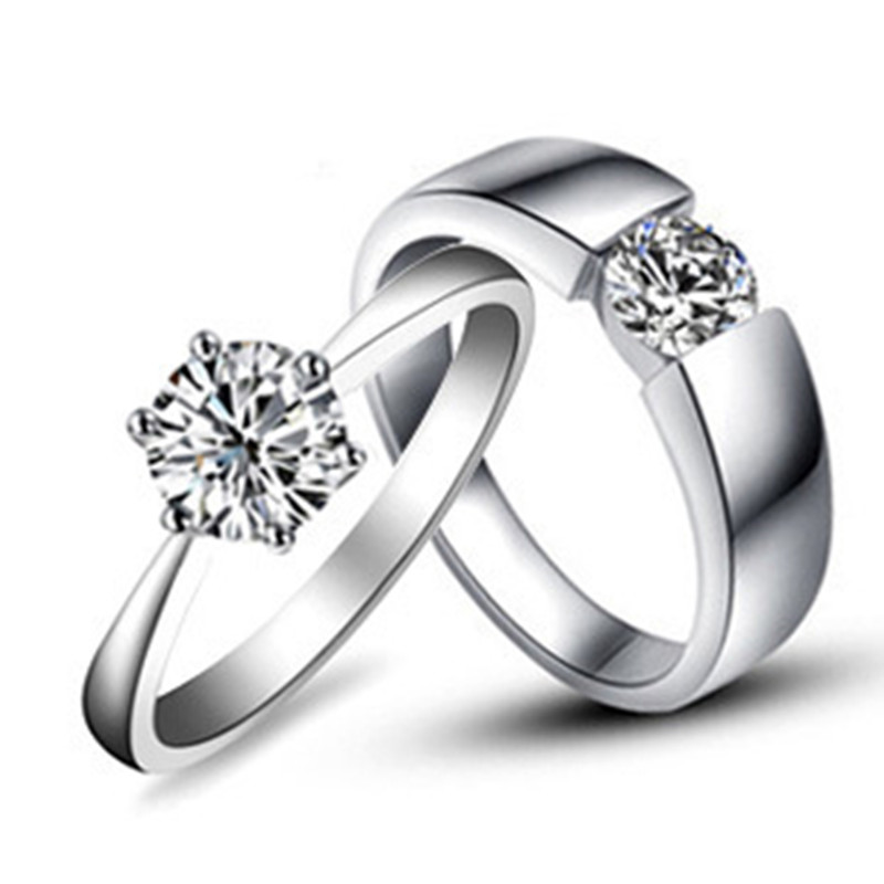 AU585 Solitaire Engagement Rings 1CT Snowflake And 025CT Solid