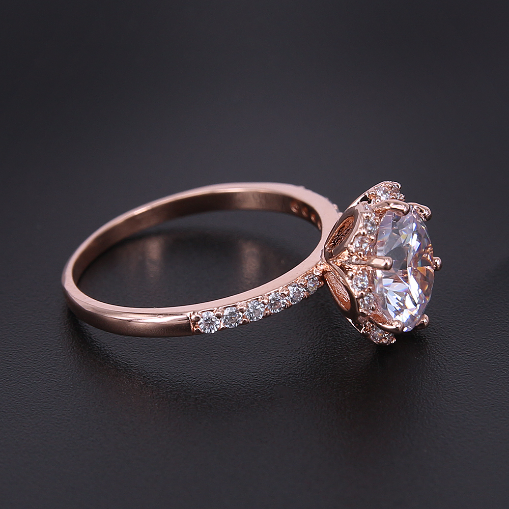 cubic women ring engagement silver zirconia item for rings rose in jewelry gold beautiful from big crystal carat austrian wedding gift color