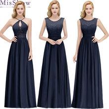 adeacbd8d4 5 style Navy Blue 2019 sukienki dla matki panny młodej linia bez rękawów  szyfonu koronki długie eleganckie sukienki dla matki pa.