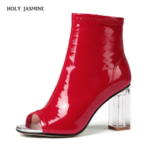 2019 Spring/Autumn New Women Summer Boots Sexy High Heels Peep Toe Ankle Boots Ladies Dress Party Casual Shoes Dance Boots Woman цены онлайн