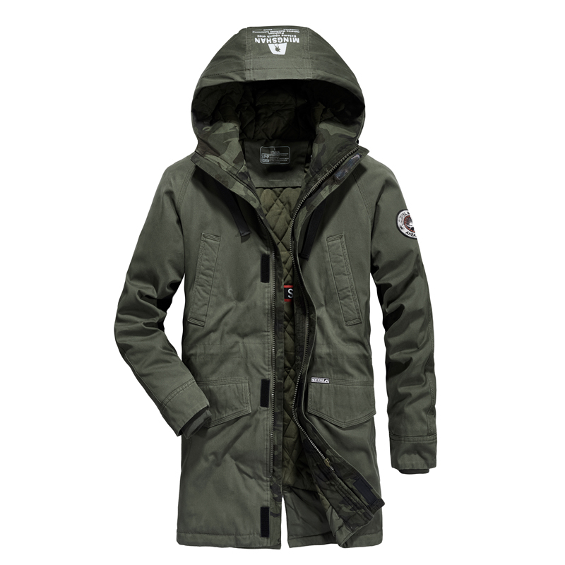 Nouveau design longue parka hommes marque AFS JEEP hommes veste d hiver  chapeau long manteau militaire épais pardessus veste homme hiver parka homme  dans ... 511f77a9df0c