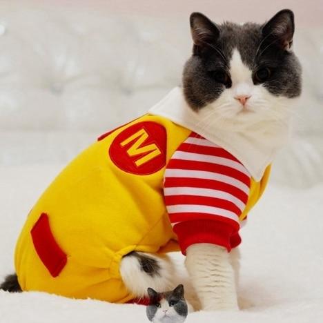 Animali domestici Vestiti Gatto vestiti Ronald McDonald in Animali ... d93879eccf4