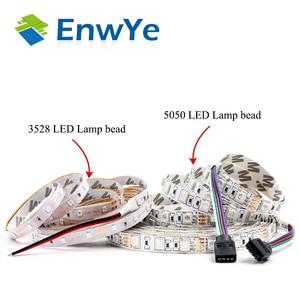 Image 2 - EnwYe 5M 300Leds waterproof RGB Led Strip Light 3528 5050 DC12V 60Leds/M Fiexble Light Led Ribbon Tape Home Decoration Lamp
