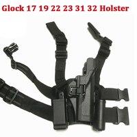 Tactical Pistol Case Gun Holster Polyester Army Gun Quick Drop Leg Holster Right Hand Glock 17 19 22 23 31 32 Gun Carry Holster