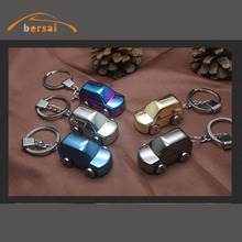 BERSAI 1piece Alloy Car Key chain Ring Cigarette lighter For ford focus 2 bmw e39 rio Toyota styling accessories