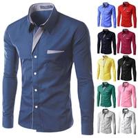 Free Shipping 2012 New Mens Shirts Casual Slim Fit Stylish Hot Dress Shirts Color White Black